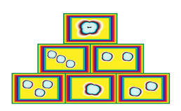 Mozaïekblokken Stock Foto's