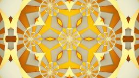 Mozaïekcaleidoscoop in gele kleur stock footage