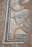 Mozaïeken bij de Grote Baden in Dion stock afbeelding