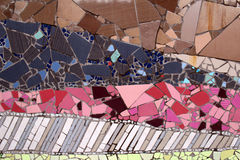 Mozaïeken van het detail de ceramische glas Stock Afbeeldingen