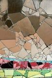 Mozaïeken van het detail de ceramische glas Stock Fotografie