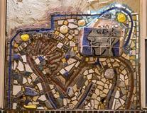 Mozaïekmuurschildering door Isaiah Zagar, Philadelphia Royalty-vrije Stock Foto