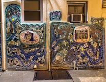 Mozaïekmuurschildering door Isaiah Zagar, Philadelphia Stock Foto