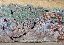 Mozaïekmuurschildering door Isaiah Zagar, Philadelphia Stock Fotografie
