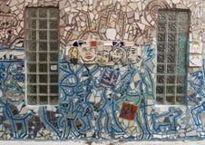 Mozaïekmuurschildering door Isaiah Zagar, Philadelphia Stock Afbeelding