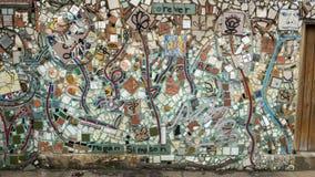 Mozaïekmuurschildering door Isaiah Zagar, Philadelphia Stock Foto's