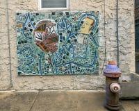 Mozaïekmuurschildering door Isaiah Zagar, Philadelphia Royalty-vrije Stock Foto's