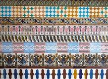 Mozaïekpatroon bij het Cartuja-klooster, Sevilla, Spanje Charles Pickman-fabriek Royalty-vrije Stock Foto