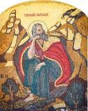 Mozaïekpictogram met de heilige mens royalty-vrije stock foto's