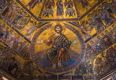 Mozaïekplafond van de Doopkapel van San Giovanni, Florence Royalty-vrije Stock Afbeeldingen