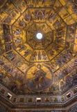 Mozaïekplafond van de Doopkapel van San Giovanni, Florence Stock Afbeelding