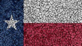 Mozaïektegels het Schilderen van Texas Flag royalty-vrije stock fotografie