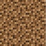 Mozaïektegels voor badkamers en kuuroord Naadloze Achtergrond Het herhalen van textuur Bruine tegelillustratie Stock Afbeelding