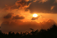 Mozabique Sunset Royalty Free Stock Photography