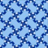Mozaïek abstracte patronen in de vorm van blauwe kristallen Royalty-vrije Stock Afbeeldingen