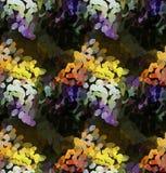 Mozaïek met sinaasappel en purple Royalty-vrije Stock Afbeeldingen