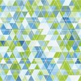 Mozaïek van driehoeken en contourtekening Royalty-vrije Stock Afbeeldingen