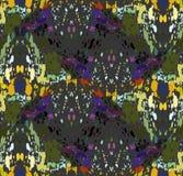 Mozaïekgolven met oranje groene purple Royalty-vrije Stock Fotografie