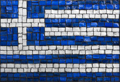 Mozaïekvlag van Griekenland Stock Foto's