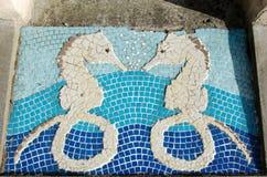 Ιππόκαμπος στη mozaic προσθήκη Στοκ εικόνες με δικαίωμα ελεύθερης χρήσης