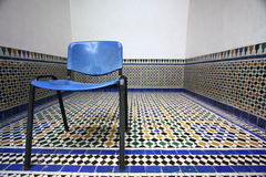 Mozaic. Blue chair in Moroccan mosaic Royalty Free Stock Images