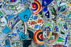 Mozaic background. Mosaic of broken tiles wall in Istanbul, Turkey Royalty Free Stock Photo