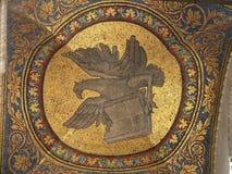 Mozaic en el cuadrado de la marca de Sant Fotos de archivo
