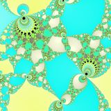 Mozaic oriental arabian fractal seamless yellow blue pattern. Mozaic oriental arabian fractal yellow blue pattern Stock Photos