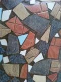 Mozaic podłoga tło fotografia royalty free