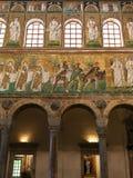 Mozaik ściany Catherdal Sant Apollinare Nuovo Zdjęcie Royalty Free