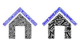 Mozaik Domowe ikony Remontowi narzędzia royalty ilustracja