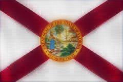 Mozaik płytek kierowy malować Floryda flaga ilustracja wektor