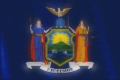 Mozaik płytek kierowy malować Nowy Jork flaga royalty ilustracja