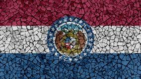 Mozaik płytek Malować Missouri flaga royalty ilustracja
