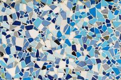 Mozaika ścienny dekoracyjny ornament od ceramicznej łamającej płytki Obrazy Stock