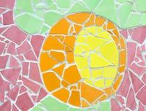 Mozaika ścienny dekoracyjny ornament od ceramicznej płytki Obraz Royalty Free