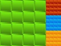 Mozaika beveled kwadraty Set 4 kolor bezszwowy Zdjęcie Royalty Free