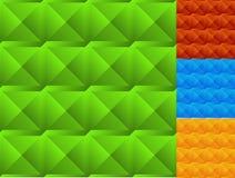Mozaika beveled kwadraty Set 4 kolor bezszwowy Fotografia Royalty Free