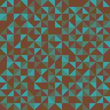 mozaika Bezszwowy wzór geometryczni kształty Kolorowy trójboka wzór ilustracji