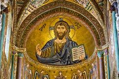 Mozaika Bizantyjska Jezus Zdjęcie Royalty Free