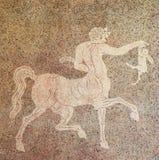 Mozaika centaur trzyma królika Obrazy Stock
