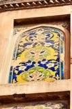 Mozaika czerep na ścianie Czerwony Agra fort Fotografia Royalty Free