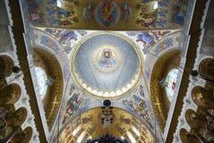 Mozaika i frescoes w Kronstadt Morskiej katedrze obraz stock