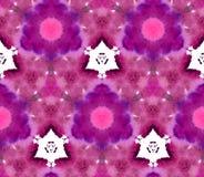 Mozaika kalejdoskopu akwareli tła Retrowave Synthwave menchii bordo bezszwowy deseniowy fiołek ilustracja wektor