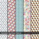 Mozaika kolorowi bezszwowi wzory ilustracji