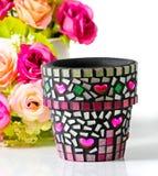 Mozaika kwiatu garnek. Zdjęcia Royalty Free