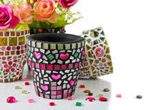 Mozaika kwiatu garnek Zdjęcie Royalty Free
