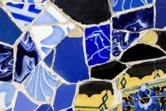 mozaika Parkowy Guell w Barcelona, Zamyka Up Zdjęcia Royalty Free