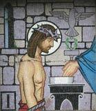 Mozaika - Pierwszy stacja Przecinający Ballina Irlandia obraz stock
