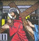 Mozaika - Po drugie stacja Przecinający Ballina Irlandia Zdjęcia Stock